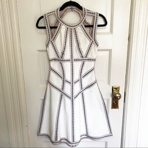 Herve Leger White A Line Dress